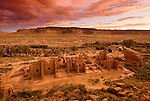 Kin Kleitso ruins, sundown..Chaco Culture National Historical Park