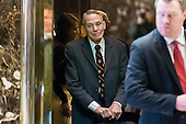 Physicist William Happer arrives for a meeting with President-elect Donald Trump at Trump Tower in New York, NY, USA on January 13, 2017.  Credit: Albin Lohr-Jones / Pool via CNP
