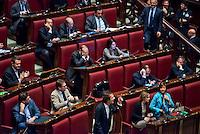 Roma, 31 Gennaio 2014<br /> Camera dei Deputati - Voto sulle pregiudiziali di costituzionalità della legge elettorale<br /> Deputati del centro destra