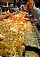 Sampling and buying cheese, Sonoma County, California
