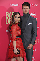 """14 June 2017 - Los Angeles, California - Violetta Komyshan, Ansel Elgort. Los Angeles Premiere of """"Baby Driver"""" held at the Ace Hotel Downtown in Los Angeles. Photo Credit: Birdie Thompson/AdMedia"""