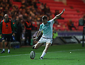 29th September 2017, Parc y Scarlets, Llanelli, Wales; Guinness Pro14 Rugby, Scarlets versus Connacht; Jack Carty of Connacht kicking a conversion after the 3rd try