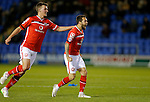 Milan Lalkovic of Walsall celebrates his goal with Paul Downing - Football - Sky Bet Division 1 - Shrewsbury Town vs Walsall - Greenhous Meadow Shrewsbury - December 1st  2015 - Season 2015/2016 - Photo Malcolm Couzens/Sportimage