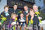 Launching the Irish Cancer Society Daffodil day coffee morning which will be held in Towers Hotel Killarney on 2nd March and also receiving a cheque from the Plaza Hotel for €1300 which they raised by donating one euro for every cocktail sold in October at the Plaza Hotel on Thursday was front row l-r: , Tadgh McGillicuddy, Mary Hartnett. Back row: Kathleen O'Shea, Philip Murphy, Eugene O'Sullivan and Tim Moriarty.