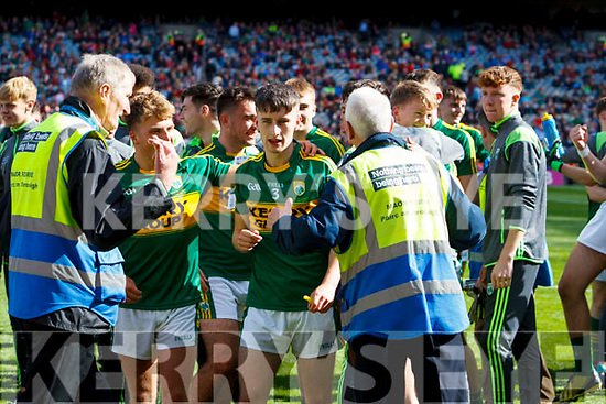 Chris O'Donoghue Kerry players celebrate after defeating Derry in the All-Ireland Minor Footballl Final in Croke Park on Sunday.