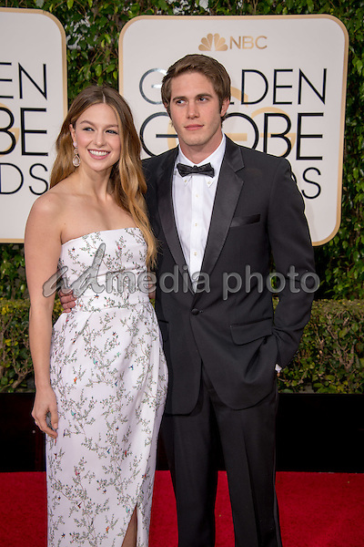 Presenter Melissa Benoit and Actor Blake Jenner attend the 73rd Annual Golden Globes Awards at the Beverly Hilton in Beverly Hills, CA on Sunday, January 10, 2016. Photo Credit: HFPA/AdMedia