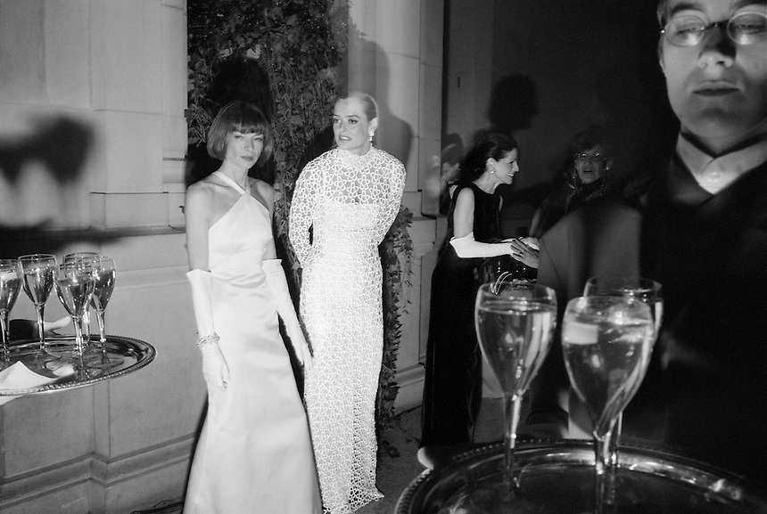 Anna Wintour, Clarissa Bronfman, and Annette de la Renta, at the Metropolitan Museum of Art's Costume Institue Gala, 1995