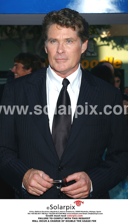 ALL ROUND PICTURES FROM SOLARPIX.COM.*MUST CREDIT SOLARPIX.COM OR DOUBLE FEE WILL BE CHARGED*.*NO PUBLICATION IN FRANCE*.The film premiere of 'Click' in California at the 'Village theatre in Westwood in the USA yesterday 14.06.06..This pic:david hasselhoff.DATE:15.06.06.-JOB REF:2491-GLS