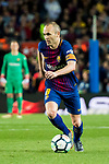 Andres Iniesta Lujan of FC Barcelona in action during the La Liga 2017-18 match between FC Barcelona and Real Madrid at Camp Nou on May 06 2018 in Barcelona, Spain. Photo by Vicens Gimenez / Power Sport Images