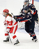 Shannon Mahoney (BU - 14), Casey Knajdek (UConn - 5) - The Boston University Terriers defeated the visiting University of Connecticut Huskies 4-2 on Saturday, November 19, 2011, at Walter Brown Arena in Boston, Massachusetts.
