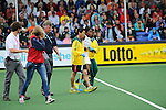 The Hague, Netherlands, June 10: Sulette Damons #30 of South Africa leaves the field during the field hockey group match (Women - Group B) between USA and South Africa on June 10, 2014 during the World Cup 2014 at GreenFields Stadium in The Hague, Netherlands. Final score 4-2 (1-0) (Photo by Dirk Markgraf / www.265-images.com) *** Local caption ***