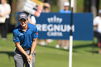 Paul Dunne (IRL) on the 10th green during Sunday's Final Round of the 2018 Turkish Airlines Open hosted by Regnum Carya Golf &amp; Spa Resort, Antalya, Turkey. 4th November 2018.<br /> Picture: Eoin Clarke | Golffile<br /> <br /> <br /> All photos usage must carry mandatory copyright credit (&copy; Golffile | Eoin Clarke)