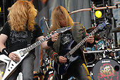 Megadeth - vocalist guitarist Dave Mustaine and guitarist Glen Drover performing live on Day One on the Main Stage at the 2007 Download Festival at Donington Park, Leicestershire, UK - 08 Jun 2007.   Photo Credit: Ben Rector/IconicPix