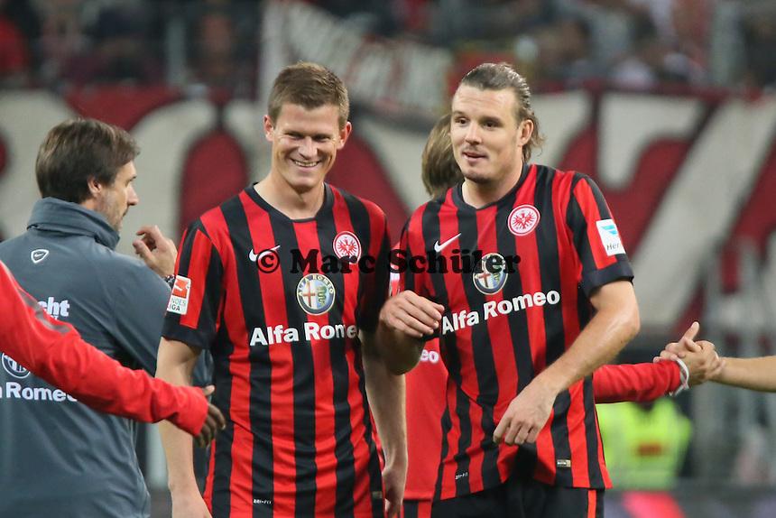 Alexander Madlung und Alex Meier (Eintracht) - Eintracht Frankfurt vs. 1. FC Köln Commerzbank Arena