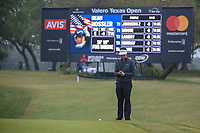 Beau Hossler (USA) lines up his putt on 1 during Round 3 of the Valero Texas Open, AT&amp;T Oaks Course, TPC San Antonio, San Antonio, Texas, USA. 4/21/2018.<br /> Picture: Golffile | Ken Murray<br /> <br /> <br /> All photo usage must carry mandatory copyright credit (&copy; Golffile | Ken Murray)