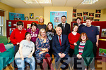 Minister Finan McGrath TD visits the Inspired centre Firary Lane,Tralee on Wednesday greeting the Miniater are Breda O'Connor Minister Finan McGrath ,Denise O'Mahony and Sinead Joy. Back l-r: Bronagh Enright,Niamh O'Connor,Frank Malone,Adrian McLaughin, Helen Roche and David Moloney.