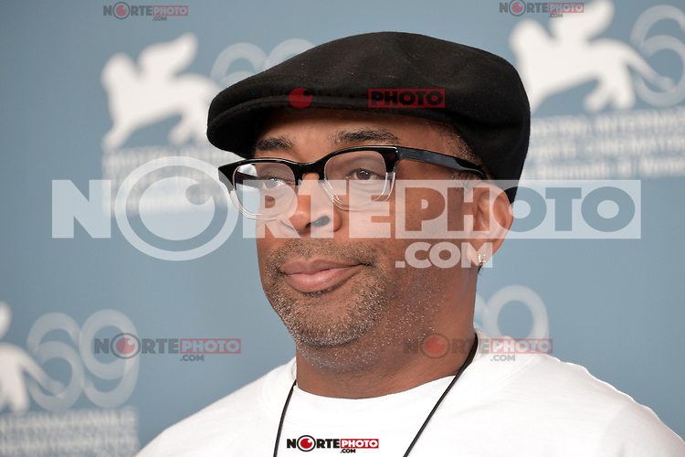 VENICE, ITALY - AUGUST 31: Director Spike Lee attends the 'Bad' And Jaeger-Le Coultre - Glory To The Filmmaker 2012 Award photocall during the 69th Venice Film Festival at the Palazzo del Casino on August 31, 2012 in Venice, Italy AFG / Mediapunchinc