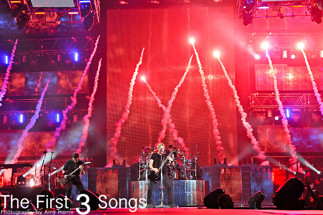Nickelback performs at the Nationwide Arena in Columbus, Ohio on October 1, 2010.