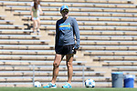 13 September 2015: UCLA head coach Amanda Cromwell. The University of North Carolina Tar Heels hosted the University of California Los Angeles Bruins at Fetzer Field in Chapel Hill, NC in a 2015 NCAA Division I Women's Soccer game. UNC won the game 3-1.
