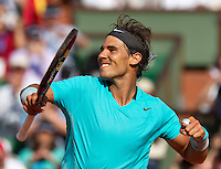 France, Paris, 04.06.2014. Tennis, French Open, Roland Garros, Rafael Nadal (ESP) defeats Andy Murray in the semifinal<br /> Photo:Tennisimages/Henk Koster