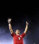 FUDBAL, BEOGRAD, 10.10.2009. -   Radost fudbalera Srbije Marka Pantelica nakon plasmana na Svetsko prvenstvo. Fudbalska reprezentacija Srbije u pretposlednjem kolu kvalifikacija za Svetsko prvenstvo 2010. godine u Juznoj Africi pobedila je Rumuniju rezultatom 5:0. Foto: Nenad Negovanovic - Sportska centrala