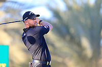 Jordan Smith (ENG) on the 14th tee during the 2nd round of the Abu Dhabi HSBC Championship, Abu Dhabi Golf Club, Abu Dhabi,  United Arab Emirates. 17/01/2020<br /> Picture: Fran Caffrey   Golffile<br /> <br /> <br /> All photo usage must carry mandatory copyright credit (© Golffile   Fran Caffrey)