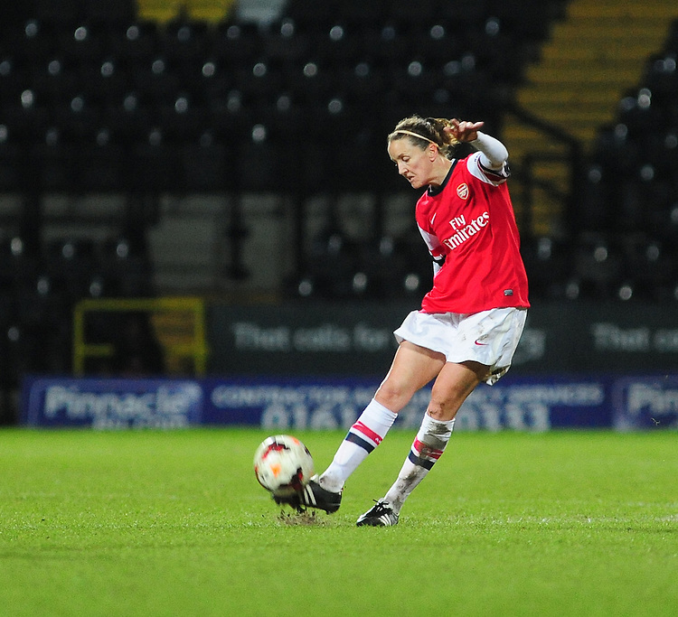Arsenal Ladies' Casey Stoney <br /> <br /> Photo by Chris Vaughan/CameraSport<br /> <br /> Women's Football - FA Women&rsquo;s Super League 1 - Notts County Ladies v Arsenal Ladies - Wednesday 16th April 2014 - Meadow Lane - Nottingham<br /> <br /> &copy; CameraSport - 43 Linden Ave. Countesthorpe. Leicester. England. LE8 5PG - Tel: +44 (0) 116 277 4147 - admin@camerasport.com - www.camerasport.com