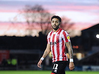 Lincoln City's Bruno Andrade<br /> <br /> Photographer Andrew Vaughan/CameraSport<br /> <br /> The EFL Sky Bet League Two - Lincoln City v Port Vale - Tuesday 1st January 2019 - Sincil Bank - Lincoln<br /> <br /> World Copyright &copy; 2019 CameraSport. All rights reserved. 43 Linden Ave. Countesthorpe. Leicester. England. LE8 5PG - Tel: +44 (0) 116 277 4147 - admin@camerasport.com - www.camerasport.com