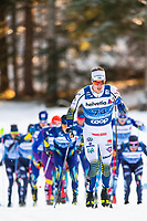 1st January 2020, Toblach, South Tyrol , Italy;  Johan Hooggstrom of Sweden competes in the mens 15 km classic technique pursuit during Tour de Ski on January 1, 2020 in Toblach.