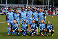 Kansas City, MO - Friday May 13, 2016: Chicago Red Stars starting XI against FC Kansas City during a regular season National Women's Soccer League (NWSL) match at Swope Soccer Village. The match ended 0-0.