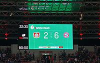 17.04.2018, Football DFB Pokal 2017/2018, semi final , Bayer Leverkusen - FC Bayern Muenchen, in BayArena Leverkusen. Endstand 2:6 auf Anzeigetafel. *** Local Caption *** © pixathlon<br /> <br /> Contact: +49-40-22 63 02 60 , info@pixathlon.de