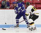 Sean Nelson (Curry - 12), Beau Burgau (WIT - 12) - The Wentworth Institute of Technology Leopards defeated the visiting Curry College Colonels 1-0 on Saturday, November 23, 2013, at Walter Brown Arena in Boston, Massachusetts.