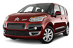 Low aggressive front three quarter view of a 2012 Citroen C3 PICASSO Millenium 5 Door Mini Mpv 2WD