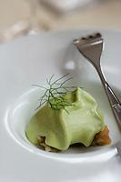 """Europe/Espagne/Iles Canaries/Tenerife/La Orotava ,restaurant """"Lucas Maes"""" Mousse d'avocat avec harengs"""