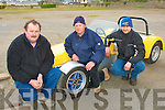 9756-9759.---------.Testing times.-------------.Tralee based Kerry motor club held the 1st round of the Munster Autotest championship last weekend in Ballybeggan race course,it was also the 2nd last round of the National Hewison Autotest Championship,Co Kerry competing drivers were L-R Gerry Lynch(Killorglin)Gerard Breen(Currow)and Trevor Mitchel(Kilgarvan).