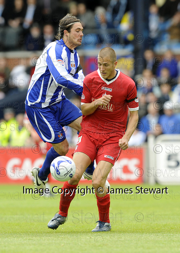 17/05/2008   Copyright Pic: James Stewart.File Name : sct_jspa24_kilmarnock_v_falkirk.DANNY INVINCIBILE IS STOPPED BY GERARD AAFJES.James Stewart Photo Agency 19 Carronlea Drive, Falkirk. FK2 8DN      Vat Reg No. 607 6932 25.Studio      : +44 (0)1324 611191 .Mobile      : +44 (0)7721 416997.E-mail  :  jim@jspa.co.uk.If you require further information then contact Jim Stewart on any of the numbers above........