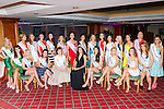 Miss Ireland Jessica Hayes with the contestants at the Miss Kerry selection in the Plaza Hotel on Saturday night