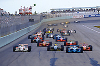Green Flag, start, Marlboro Grand Prix of Miami, Homestead-Miami Speedway, Homestead, FL, March 15, 1998.  (Photo by Brian Cleary/www.bcpix.com)