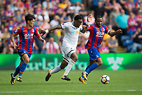 Swansea City's Leroy Fer battles for possession with Crystal Palace's Jason Puncheon     <br /> <br /> <br /> Photographer Craig Mercer/CameraSport<br /> <br /> The Premier League - Crystal Palace v Swansea City - Saturday 26th August 2017 - Selhurst Park - London<br /> <br /> World Copyright &copy; 2017 CameraSport. All rights reserved. 43 Linden Ave. Countesthorpe. Leicester. England. LE8 5PG - Tel: +44 (0) 116 277 4147 - admin@camerasport.com - www.camerasport.com