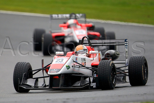 07.04.2012 Cheshire, England.  Dutch driver Hannes van Asseldonk in his Fortec Motorsport Dallara Mercedes HWA in action during rounds 1, 2 & 3 of the Cooper Tires British Formula 3 International Series at Oulton Park.