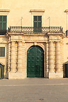 Doorway of Grand Master's Palace building, Saint George's Square, Valletta, Malta