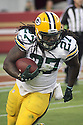 August 26 2016: Running Back Eddie Lacy of the Green Bay Packers during the Green Bay Packers during a 21-10 victory over the San Francisco 49ers at Levi's Stadium in Santa Clara, Ca.