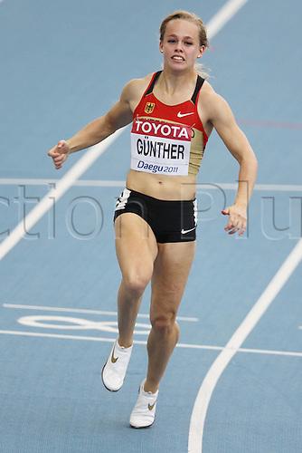 28 08 2011  Leena Goetz ger in the Qualification 100m for women Athletics World Cup 2011 in Daegu 28 08 2011 Athletics IAAF World Cup Daegu