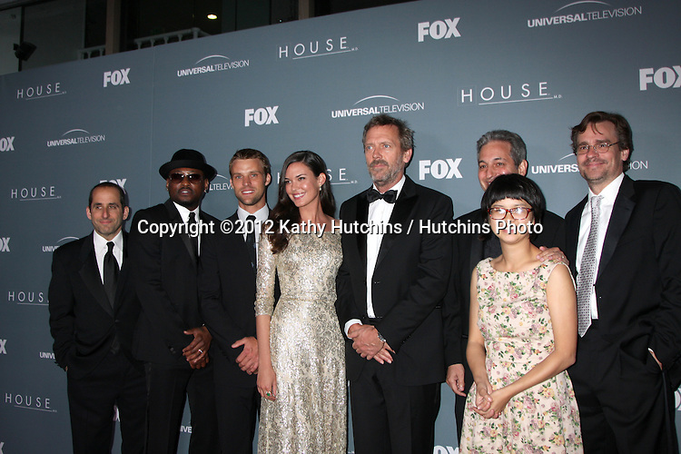 LOS ANGELES - APR 20:  Peter Jacobson, Omar Epps, Jesse Spencer, Odette Annable, Hugh Laurie, David Shore, Charlene Yi, Robert Sean Leonard arrives at the House Series Finale Wrap Party at Cicada on April 20, 2012 in Los Angeles, CA