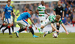 Stuart Armstrong tripped by James Tavernier