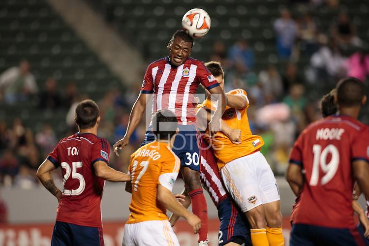 Carson, California - Saturday, May 3, 2014: The Houston Dynamo defeated Chivas USA 4-1 in a Major League Soccer (MLS) match at StubHub Center stadium.