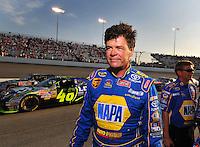 May 2, 2008; Richmond, VA, USA; NASCAR Sprint Cup Series driver Michael Waltrip during qualifying for the Dan Lowry 400 at the Richmond International Raceway. Mandatory Credit: Mark J. Rebilas-US PRESSWIRE