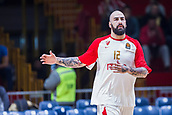 22nd March 2018, Aleksandar Nikolic Hall, Belgrade, Serbia; Turkish Airlines Euroleague Basketball, Crvena Zvezda mts Belgrade versus Fenerbahce Dogus Istanbul; Center Pero Antic of Crvena Zvezda mts Belgrade warms up before the match