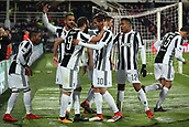 9th February 2018, Stadio Artemio Franchi, Florence, Italy; Serie A football, ACF Fiorentina versus Juventus; Gonzalo Higuain of Juventus celebrates with his teammates after scoring in the 41st minute