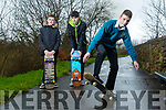 Local Tralee Skate Group looking for Skate park. Pictured front Sean Vieux with Alfred Fazilov and Bradley Lynch